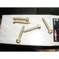 Coach screws 8.0 x 50mm Hex washer Golden Zinc class 3.  100 pieces