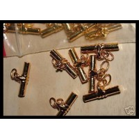 Cufflink findings with Gilt plated chain and tee bar Craft jewellery 15 x  pair