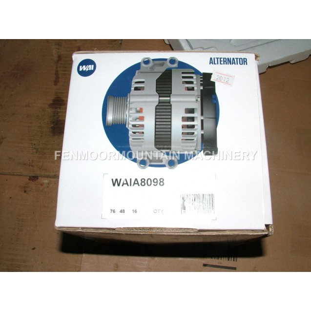 Alternator WAI 8098 Cummins 3675254RX, Delco 19009950, 105 Amp/12 Volt, 3 wire